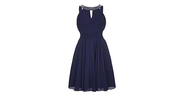 Yumi - Vestido de fiesta para mujer (40 /Azul marino): Amazon.es: Ropa y accesorios