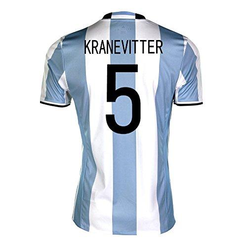 アライアンスプラカードのみadidas Kranevitter #5 Argentina Home Soccer Jersey Copa America Centenario 2016 YOUTH/サッカーユニフォーム アルゼンチン ホーム用 クラネビッテル ジュニア向け