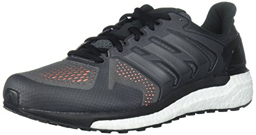 adidas Men's Supernova st m Running Shoe, Grey Four/Black/Solar Orange, 10.5 Medium US