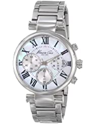 Kenneth Cole New York Womens KC4971 Classic Silver Dial Roman Numeral Silver Bracelet Watch
