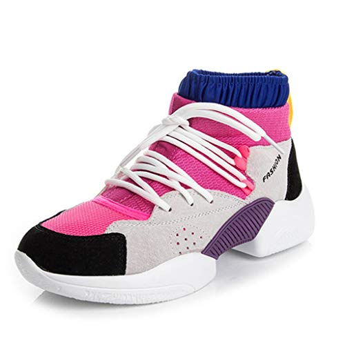 Casual GIY Womens Mesh On Shoes Breathable Slip Sport up Pink Comfort Sneaker Running Athletic Platform Lace IrrXRx