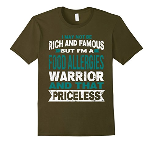 Mens Im A Food Allergies Warrior   That Pricess T Shirt Xl Olive