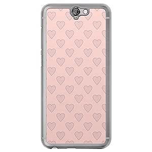 Loud Universe HTC One A9 Love Valentine Printing Files Valentine 109 Printed Transparent Edge Case - Pink/Blue