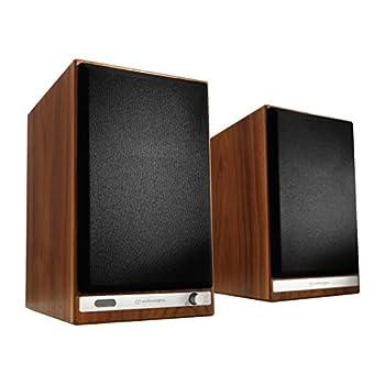 Image of Bookshelf Speakers Audioengine HD6 150W Wireless Powered Bookshelf Speakers, Bluetooth aptX HD, 24-Bit DAC & Analog Amplifier (Walnut)