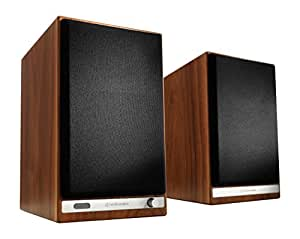 Audioengine HD6 Wireless Bookshelf Speakers. Stream Pandora, Spotify, Tidal or Your Favorite App with aptX HD in High Resolution -Walnut