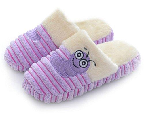 mhgao Lady Zapatillas de algodón zapatillas de casa Casual Cálido Antideslizante morado