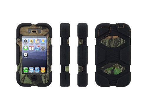 Griffin Obsession/Black Survivor in Mossy Oak Camo Case with Belt Clip for iPhone 4/4s - Military-Duty Case for iPhone 4/4s Griffin Iphone Holster