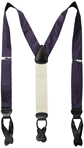 Trafalgar Men's Richmond Stripe Brace, Purple, One Size (Purple Fashion Accessories)