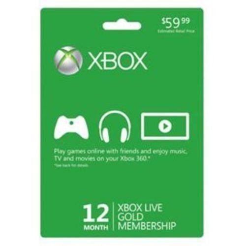 Xbox Live Gold 12 Month Subscription Card