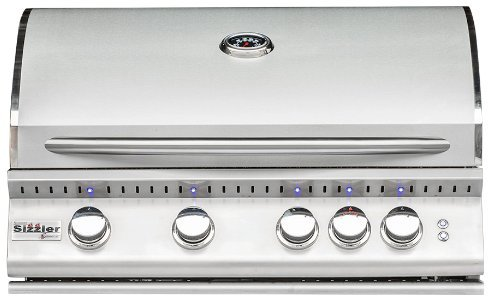 Summerset Sizzler Pro 32-inch 4-burner Built-in Natural Or Propane Gas Grill W/ Rear Infrared Burner - SIZPRO32-NG Or SIZPRO32-LP - W/ FREE Grill Cover From Premier Grilling (Natural Gas)