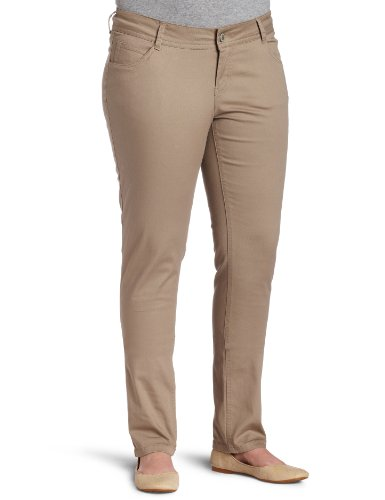 Southpole Juniors Plus Size BASIC Uniform Low Rise Skinny Pant, Khaki, 14 - Separates Basic Pant