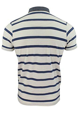 Maglietta Polo Da Uomo by Smith & Jones Prestbury' Maniche Corte Righe (Croften - Vaporous Grigio) XXL