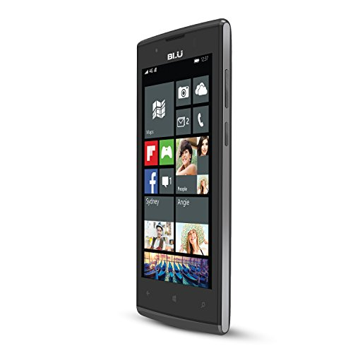 BLU Win Jr LTE - GSM Unlocked Windows Smartphone - Gray