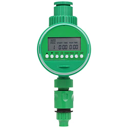 Fesjoy Outlet Programmable Hose Faucet Timer with Rain Sensor 3/4″ 1/2″ Tap Automatic Wirless Water Gateway Garden Irrigation Watering Timer Battery Operated