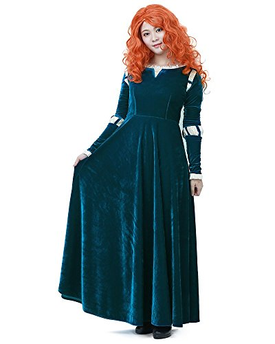 Miccostumes Women's Merida Adult Cosplay Costume (Women M) Dark Green]()
