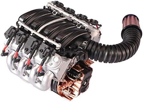 Nearthde Lüfter-Kühler für Simulation V8-Motorabdeckung kompatibel mit Traxxas TRX4 D90 D110 D130 SCX10