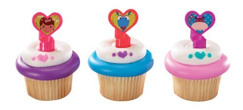 1 X 12 Disney's Doc Mcstuffins Cupcake Rings Toppers Party Favors]()