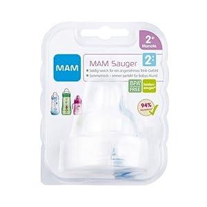 MAM Babyartikel 66411300 - 2 Tetinas para biberón, tamaño: 2 meses