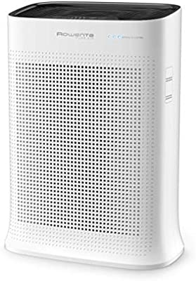 Amazon Com Rowenta 7211003489 Pu3040u0 Air Purifier With True Hepa Active Carbon And Formaldehyde Filters 243 Sq Ft White Home Kitchen