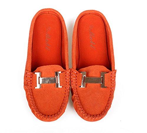 Crc Moda Donna Pelle Scamosciata Confortevole Guida A Piedi Trail Running Mocassini Mocassini Multi Color Arancione