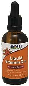 Now Foods Liquid Vitamin D-3 400Iu/Dropper, 2 Ounce