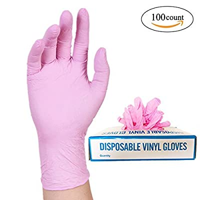 Nitrile Exam Powder-Free Gloves - disposable Food Grade Gloves, Latex - Free, Non Sterile, Convenient Dispenser Pack of 100