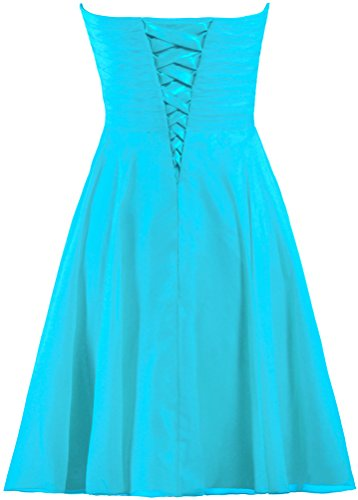 ANTS Sweetheart Wedding Chiffon Women's Short Party Bridesmaid Turquoise Dress Dresses rCrvwSq