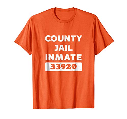 County Jail Halloween Costume Shirt Funny Outfit Women Men