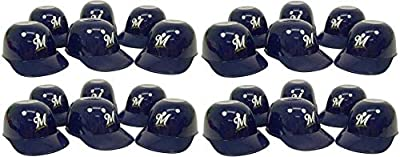 Rawlings MLB Mini Batting Helmet Ice Cream Sundae/Snack Bowls, Milwaukee Brewers - 24 Pack