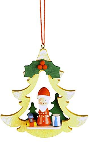 Christian Ulbricht 10-0462 Ornament-Santa in Yellow Tree-3.75