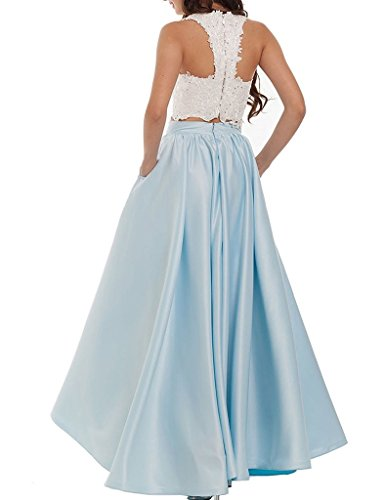 Dresses Two Prom DKBridal Long Gown Piece Women's Top Evening Aqua Lace wI1wxBq5t