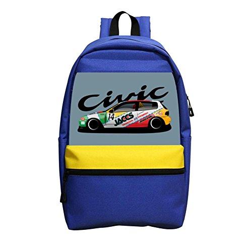 Honda Vintage Car (CsUaO Civic Race Car Girls' School Bag Book Backpacks Unique Satchel Shoulder Daypack)