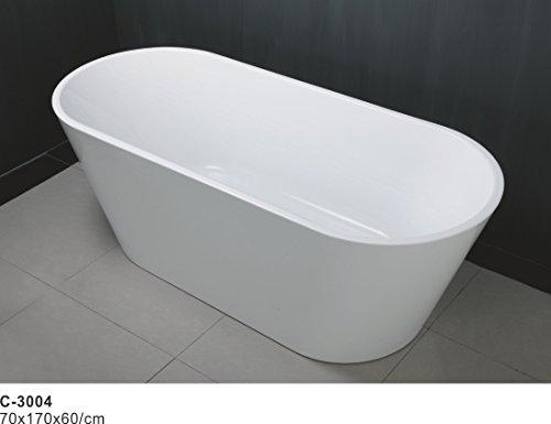 67'' Freestanding Luxury Bathtub White Acrylic by Eurotrend (Image #3)