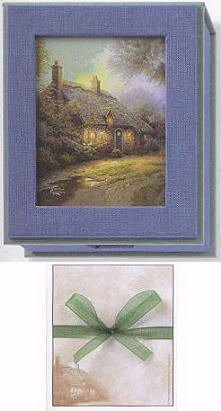 Thomas Kinkade Moonlight Cottage - Thomas Kinkade Moonlight Cottage Keepsake Box with Notepaper