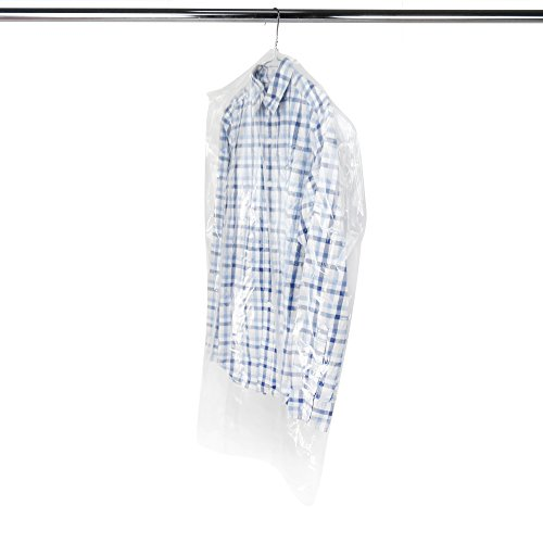 HANGERWORLD 20 Clear 38inch Dry Cleaning Laundry Polythylene Garment Clothes Cover Protector Bags 100 Gauge