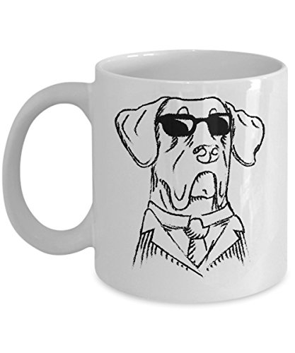 - Cool Great Dane In Black Suit and Sunglasses Art Coffee & Tea Gift Mug, Gifts & Accessories for Men, Dog Mom, Dad or Parents and Owner