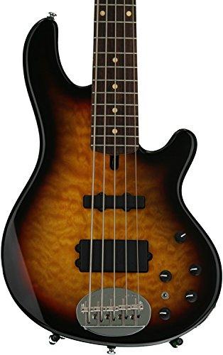 Lakland Skyline Series 55-02Q 5-Strings Bass Guitar, Three Tone Sunburst