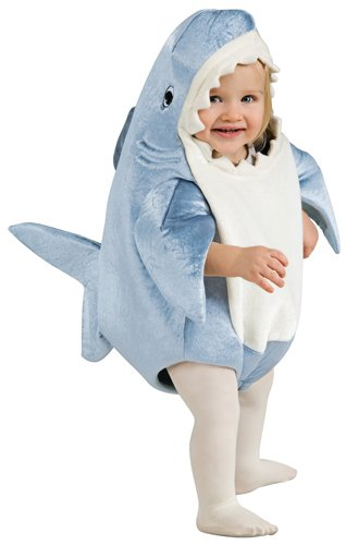 Rubie's Costume Co Unisex-Child Deluxe Shark Romper Costume, Gray, 12-24 Months