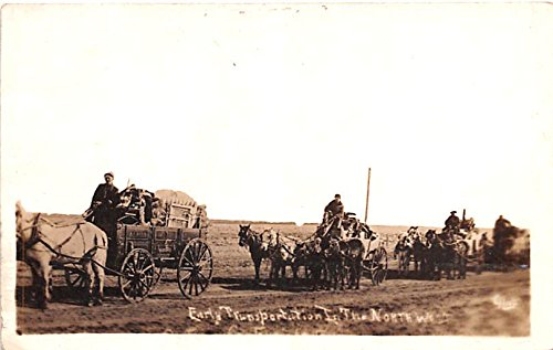 Early Transportation North West, Montana postcard