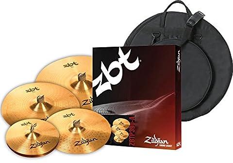 Zildjian ZBTP390A ZBT 5 Cymbal BOX SET with Free 18 Inch ZBT Crash and Cymbal Bag (Cymbals Zbt)