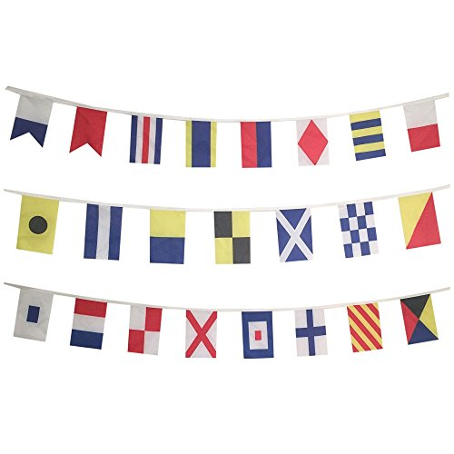 Naval Signal Flags Set - Total of 26 Flags - Marine/Maritime String/Strand Nautical ()