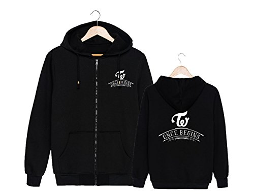 ALLDECOR Twice FM Once Begins Concert Long Sleeve Hoodie Coat Cotton Pullover by ALLDECOR (Image #1)