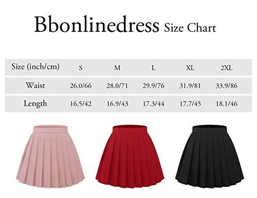 Bbonlinedress Rock Damen Vintage Plaid Winterrock Elastische Hohe Taille R/öcke A Linie Casual Minirock Elegant Faltenrock