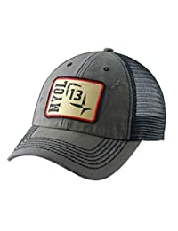 "13 ""Guy en un Buffalo con logotipo rojo Patch Snapback Gorra de pesca, Gris Carbón vegetal"