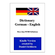Dictionary German - English (German Edition)