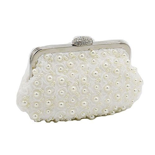 The Silk Flower with Pearl Women's Bridal Evening Bags - 5