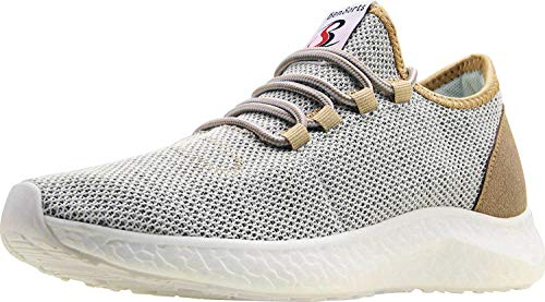 BenSorts Men's Tennis Shoes Comfortable Walking Shoes Gym Lightweight Sneakers for Workout Training Size 11 Gold