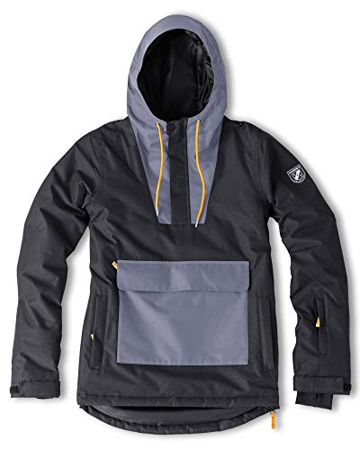 Chamonix Arcalod Anorak Mens Snowboard Jacket Black/Grey/Orange Sz L in USA