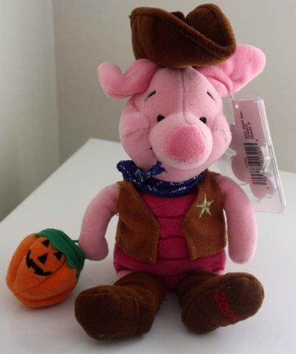 Disneyland 2000 PIGLET COWBOY Halloween Mini Bean Bag (Halloween Piglet)