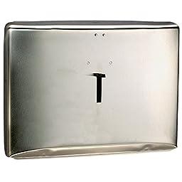 Kimberly Clark Windows Toilet Seat Cover Dispenser (09512), Stainless Steel